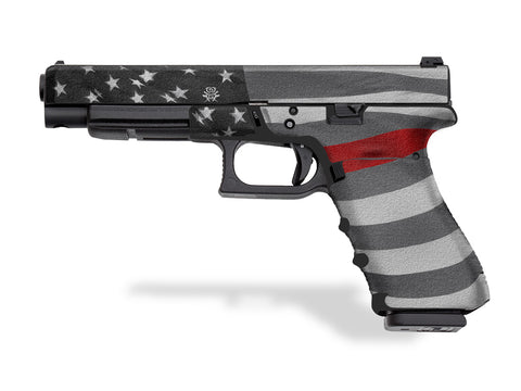 Glock 34 Decal Grip - Thin Red Line