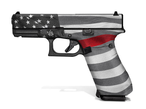 Glock 45 Decal Grip - Thin Red Line