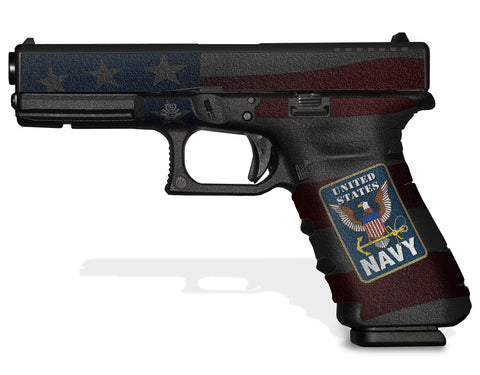 Glock 17 Gen 3 Decal Grip - US Navy