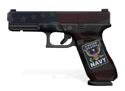 Glock 17 Gen 5 Decal Grip - US NAVY