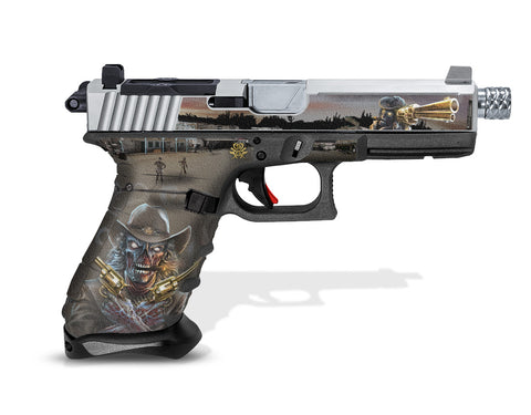 Glock 22 Gen3 Tactical Grip Graphics - Zombie Outlaw