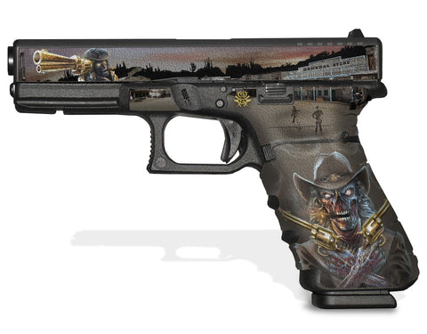 Glock 17 Gen 3 Decal Grip Graphics - Zombie Outlaw