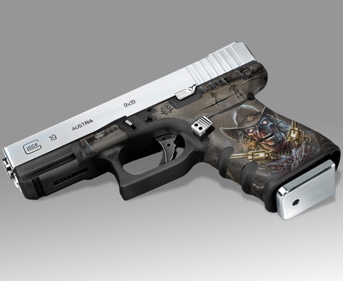 Glock 19 Gen3 Tactical Grip Graphics - Zombie Outlaw