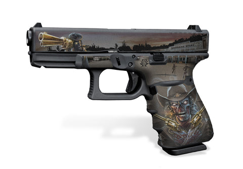 Glock 23 Gen 3 Decal Grip - Zombie Outlaw