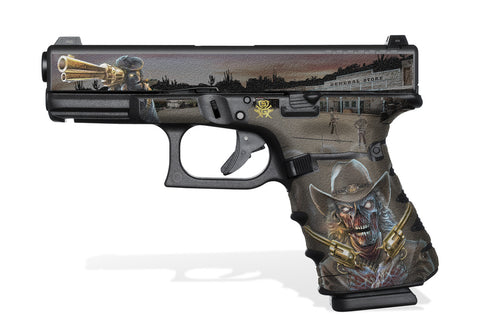 Glock 23 Gen4 Tactical Grip Graphics - Zombie Outlaw