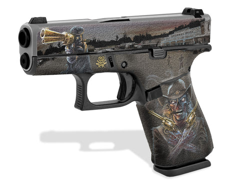 Glock 43X Decal Grip - Zombie Outlaw