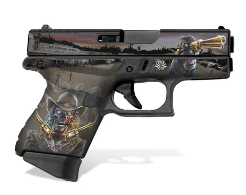 Glock 43 Tactical Grip Graphics - Zombie Outlaw