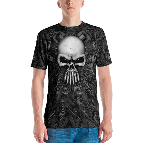 Full-Print, Athletic T-shirt with Guns & Skull - Arsenal