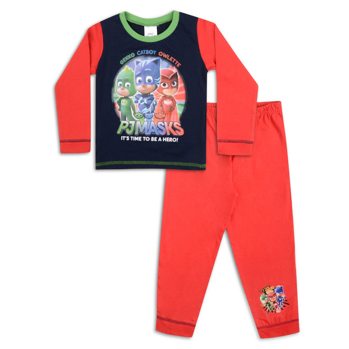 Boys PJ Masks Time To Be A Hero Snuggle Fit Pyjama Set - Buy1Get1HalfPrice.com