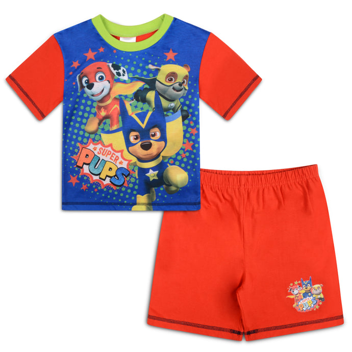 Boys Paw Patrol Super Pups Shorties Pyjama Set - Buy1Get1HalfPrice.com