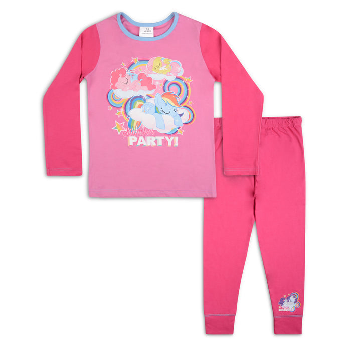 Girls My Little Pony Slumber Party Snuggle Fit Pyjama Set - Buy1Get1HalfPrice.com
