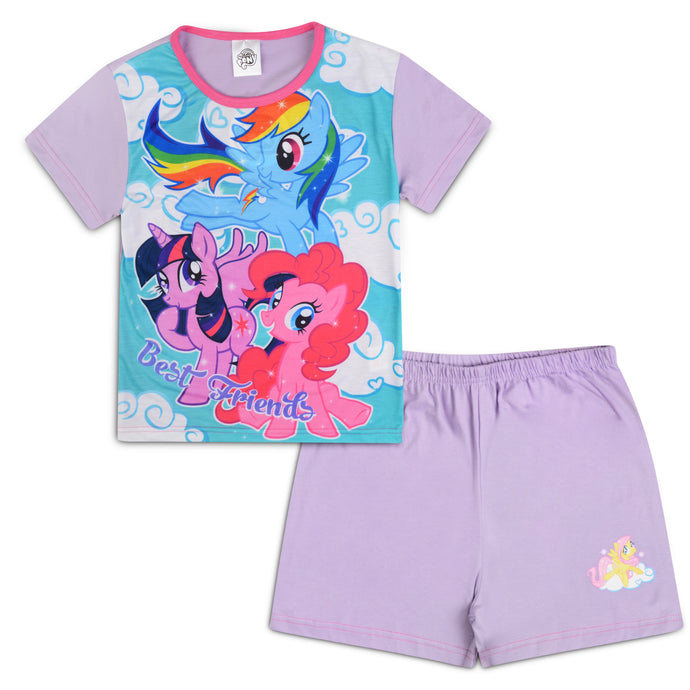 Girls My Little Pony Best Friends Shorties Pyjama Set - Buy1Get1HalfPrice.com