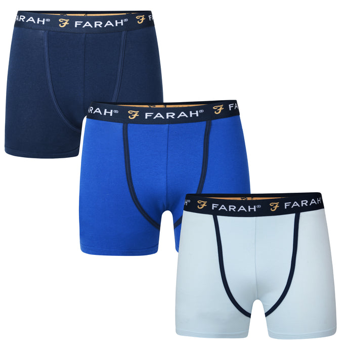 Mens Champlain 3 Pack Trunk Boxer Shorts
