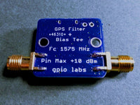 1575 MHz GPS L1 Band Pass Filter w/ USB BIAS-TEE +3.3V