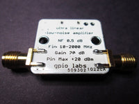 Low Noise Amplifier 10 - 2000 MHz USB Powered with Gain > 20 dB and 0.5 dB Noise Figure