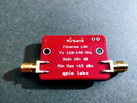 Airband Filtered Low Noise Amplifier