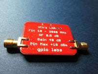 Ultra Low Noise Amplifier 10 - 2000 MHz with 40 dB Gain; 0.5 dB Noise Figure
