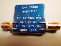 Low Noise Amplifier 10 - 6000 MHz USB Powered with Gain > 20 dB