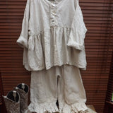 Linen Top RitaNoTiara Southern Gothic Couture quirky funky Lagenlook