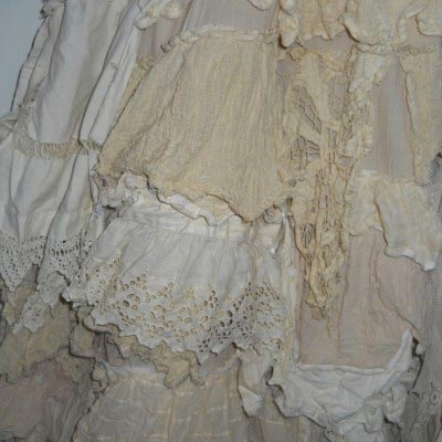 Vintage Lace Skirt RitaNoTiara Southern Gothic Couture Long boho chic