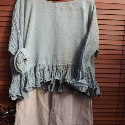 Romy Short Frill Top RitaNoTiara Southern Gothic Couture boho Chic