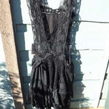 Victorian Mourning Dress Lace boho RitaNoTiara Southern Gothic Couture