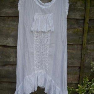 Vintage Lace Tunic lagenlook boho RitaNoTiara Southern Gothic Couture