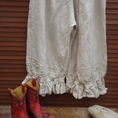 Quirky Linen Trousers RitaNoTiara Southern Gothic Couture funky boho