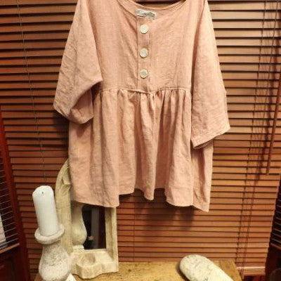 Linen Shirt RitaNoTiara Southern Gothic Couture quirky funky Lagenlook
