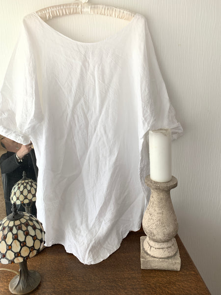 Ready to Ship Free Size Ivory Asymmetric Top