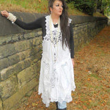 Antique Lace Dress RitaNoTiara Southern Gothic Couture Boho rock chic