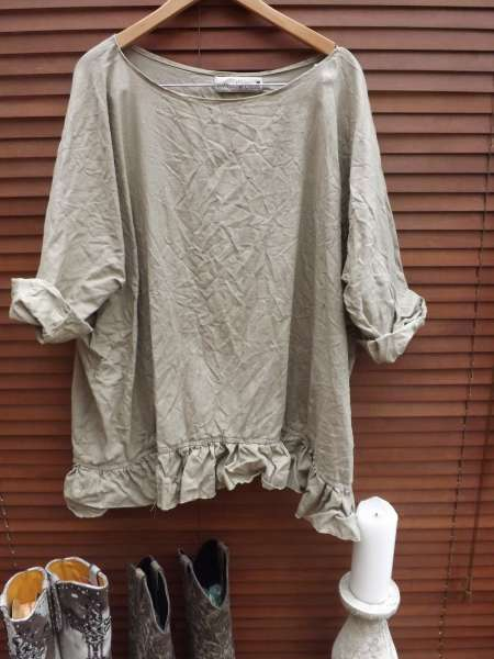 Oversized Linen Top RitaNoTiara Southern Gothic Couture Boho quirky