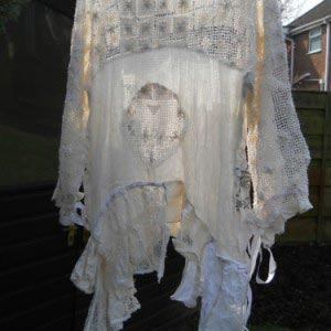 Antique Lace Top RitaNoTiara Southern Gothic art to wear one of a kind