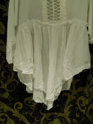 Lace Empire Line Cotton Shirt RitaNoTiara Southern Gothic Couture Boho
