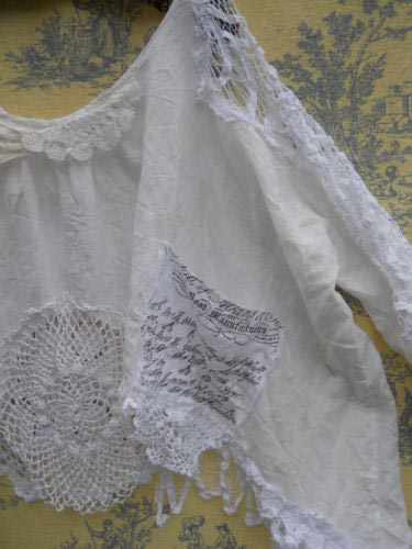 Artist Calligraphy lace shirt RitaNoTiara Southern Gothic Couture boho