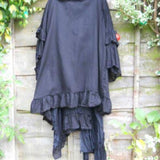 Gothic Ruffle jacket hand Dyed Art To Wear RitaNoTiara boho chic luxe