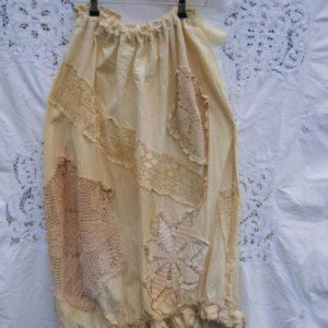Billy Vintage Lace Crochet Skirt RitaNoTiara Southern Gothic Couture