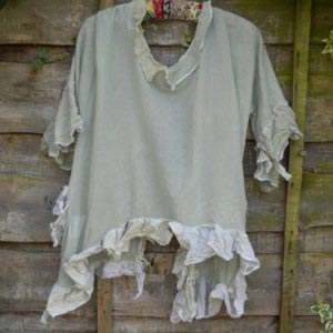 Shabby Chic jacket hand Dyed Art To Wear RitaNoTiara boho chic Gothic