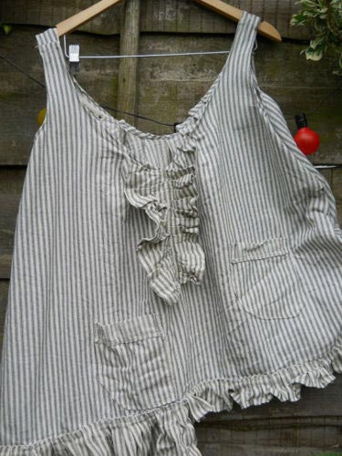 Ticking Stripe pocket top  RitaNoTiara Southern Gothic Couture Boho