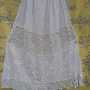 Vintage Lace Petticoat Skirt RitaNoTiara Southern Gothic Couture Long
