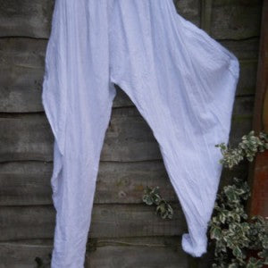 Ready to Ship Turquoise Flamingo Cotton Harem Pants