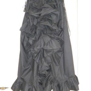 Ready to Ship Black Cotton Prairie Skirt Free Size