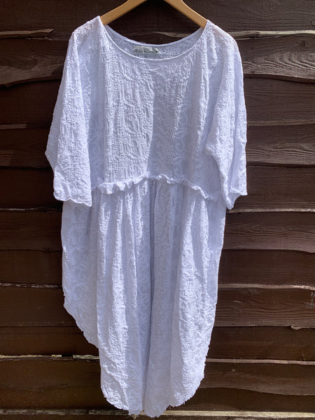 Ready to Ship May Embroidered Cotton Dress One Size
