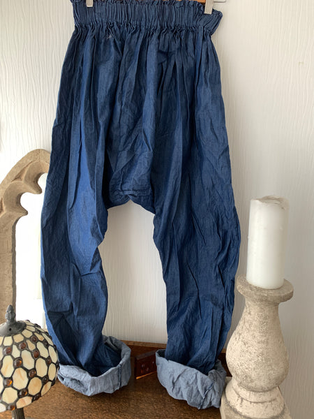 Ready to Ship Chambray Harem Pants Free Size