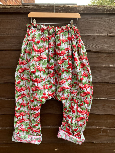 Ready to Ship Red Flamingo Harem Pants
