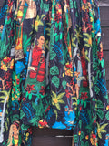 Ready to Ship Frida Kahlo Black Harem Pants