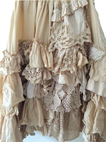 Etta Knee Length vintage lace Skirt RitaNoTiara Southern Gothic Couture