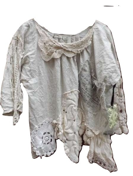 Amantha Linen Lace Top RitaNoTiara Southern Gothic Couture