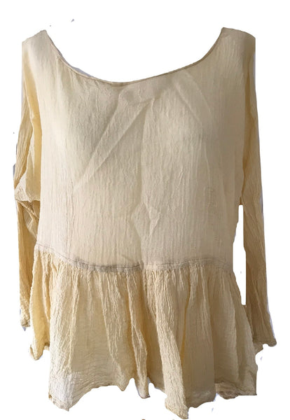 Romy Tiered Short Top Boho Chic RitaNoTiara Prairie Shirt Gypsy Tank