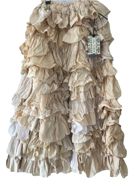Ready to Ship Ivory Cotton Petticoat Skirt Free Size